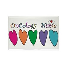 Cute Registered nurse oncology Rectangle Magnet