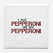 Pepperoni on Pepperoni Tile Coaster