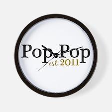 New Pop Pop 2011 Wall Clock