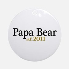 New Papa Bear 2011 Ornament (Round)