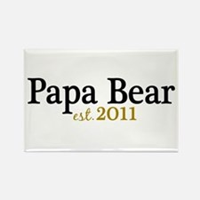 New Papa Bear 2011 Rectangle Magnet