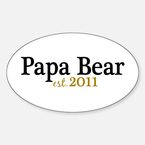 New Papa Bear 2011 Sticker (Oval)