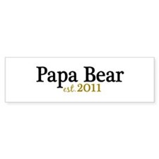 New Papa Bear 2011 Bumper Sticker