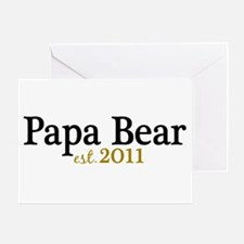 New Papa Bear 2011 Greeting Card