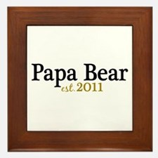 New Papa Bear 2011 Framed Tile