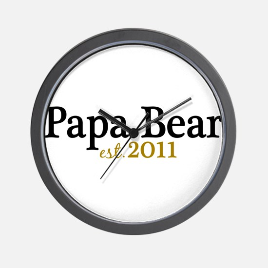 New Papa Bear 2011 Wall Clock
