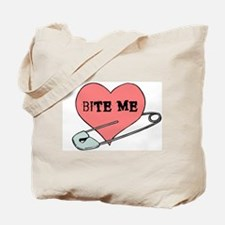 Bite Me Punk Heart Tote Bag