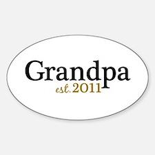 New Grandpa 2011 Decal