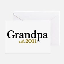 New Grandpa 2011 Greeting Card