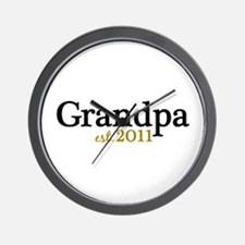 New Grandpa 2011 Wall Clock