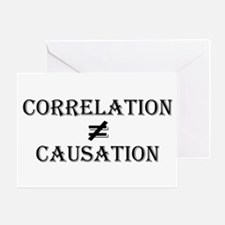Correlation Causation Greeting Card