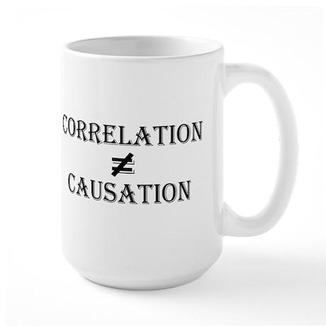 Correlation Causation Large Mug