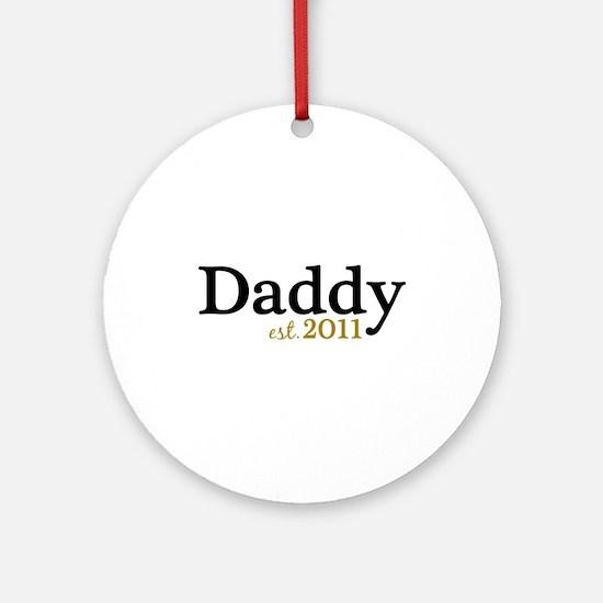 New Daddy 2011 Ornament (Round)