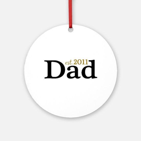 New Dad 2011 Ornament (Round)