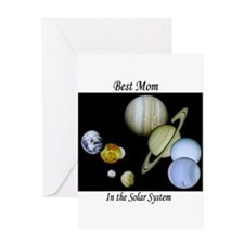 Best Mom in the Solar system Greeting Card