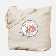 Mothers Day Rose Stamp Tote Bag