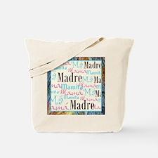 Mama/Mamacita Turquoise Tote Bag