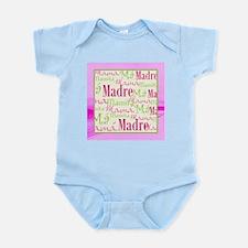 Mama/Mamacita Pink-Green Infant Bodysuit