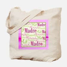 Mama/Mamacita Pink/Green Tote Bag
