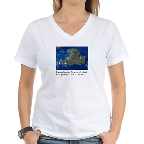 Drummond Island Life Women's V-Neck T-Shirt