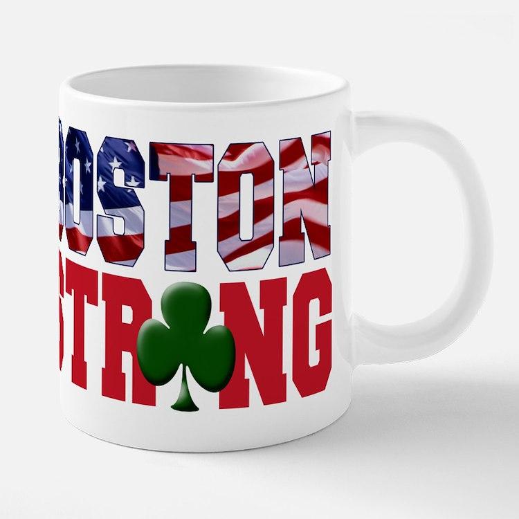 Cute Boston strong 20 oz Ceramic Mega Mug