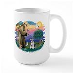 St Francis #2/ Schnauzer #2 Large Mug
