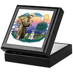 St Francis #2/ Schnauzer #2 Keepsake Box