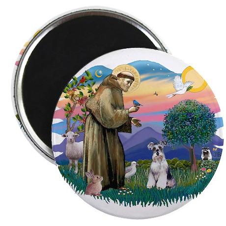"St Francis #2/ Schnauzer #2 2.25"" Magnet (10 pack)"