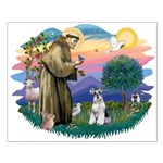 St Francis #2/ Schnauzer #2 Small Poster