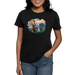 St Francis #2/ Schnauzer #2 Women's Dark T-Shirt
