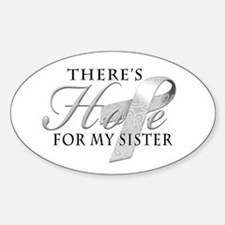 There's Hope for Diabetes Sister Decal