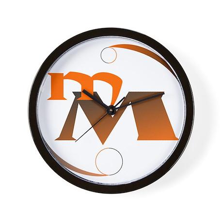 MM Orange Logo Wall Clock
