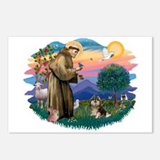 St Francis #2/ Pomeranian (T) Postcards (Package o