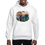 St Francis #2/ Pomeranian (T) Hooded Sweatshirt