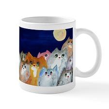 Moon Viewing Cats Mugs