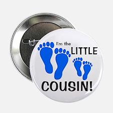 "Little Cousin Baby Footprints 2.25"" Button"