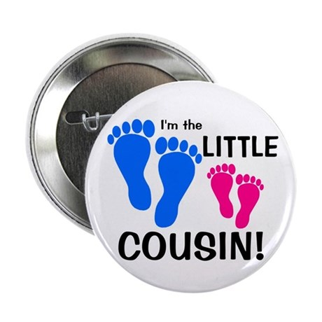 "Little Cousin Baby Footprints 2.25"" Button"