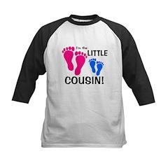 Little Cousin Baby Footprints Kids Baseball Jersey