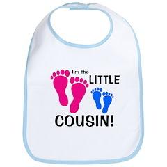Little Cousin Baby Footprints Bib