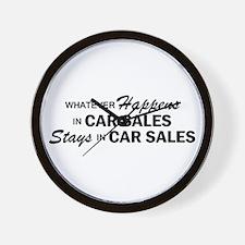 Whatever Happens - Car Sales Wall Clock