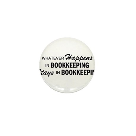 Whatever Happens - Bookkeeping Mini Button