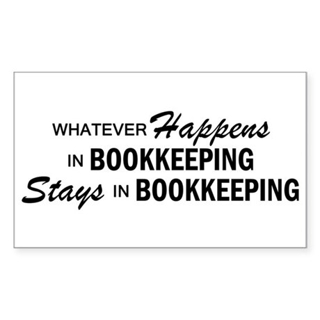 Whatever Happens - Bookkeeping Sticker (Rectangle)