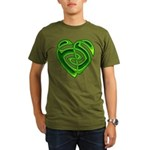Wde Heartknot Organic Men's T-Shirt (dark)