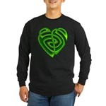 Wde Heartknot Long Sleeve Dark T-Shirt