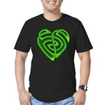 Wde Heartknot Men's Fitted T-Shirt (dark)