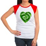 Wde Heartknot Women's Cap Sleeve T-Shirt