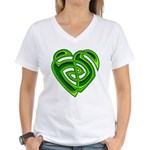 Wde Heartknot Women's V-Neck T-Shirt