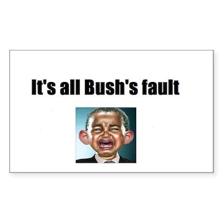 2-tshirt bushs fault Sticker