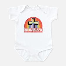 He Is Risen Religious Easter Infant Creeper