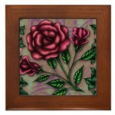 Roses and Ivy Framed Tile